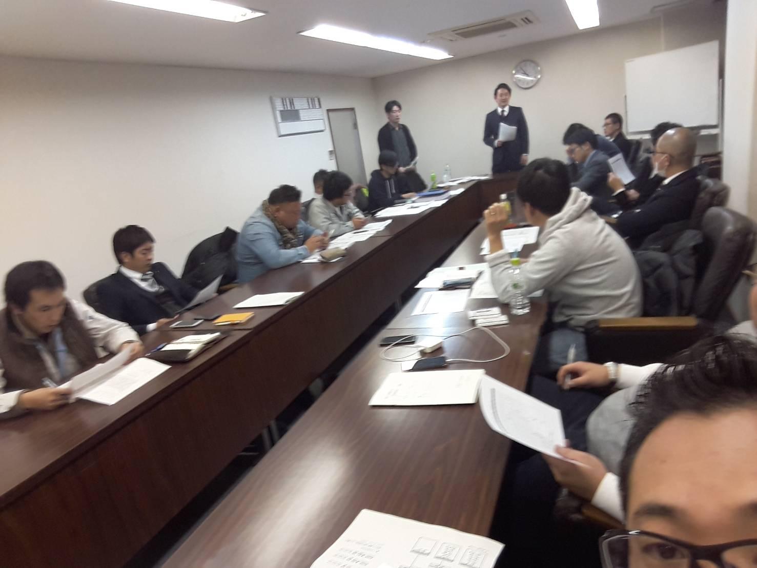 葛城青年会議所・臨時全体委員会-経済記者クラブ室