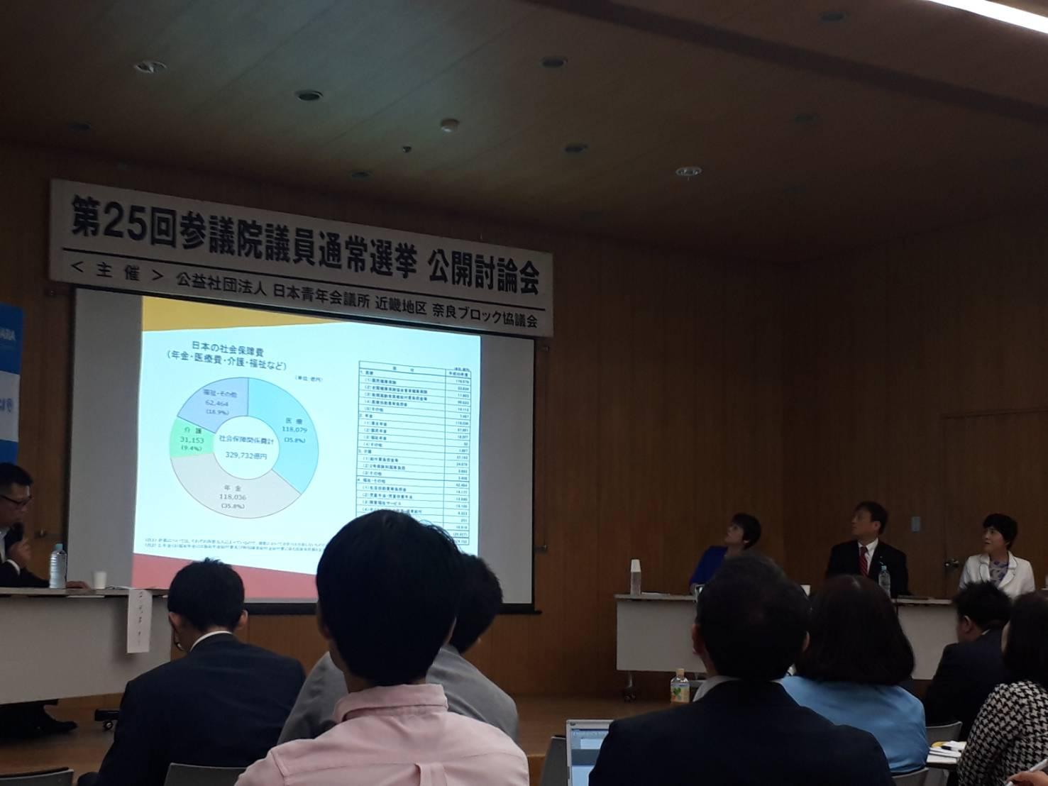 第25回参議院議員通常選挙・公開討論会@奈良県文化会館