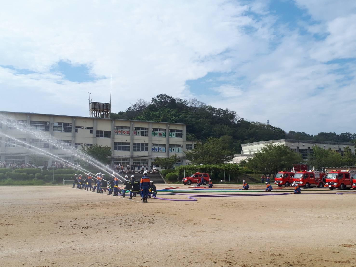 避難訓練@香芝市立香芝西中学校2