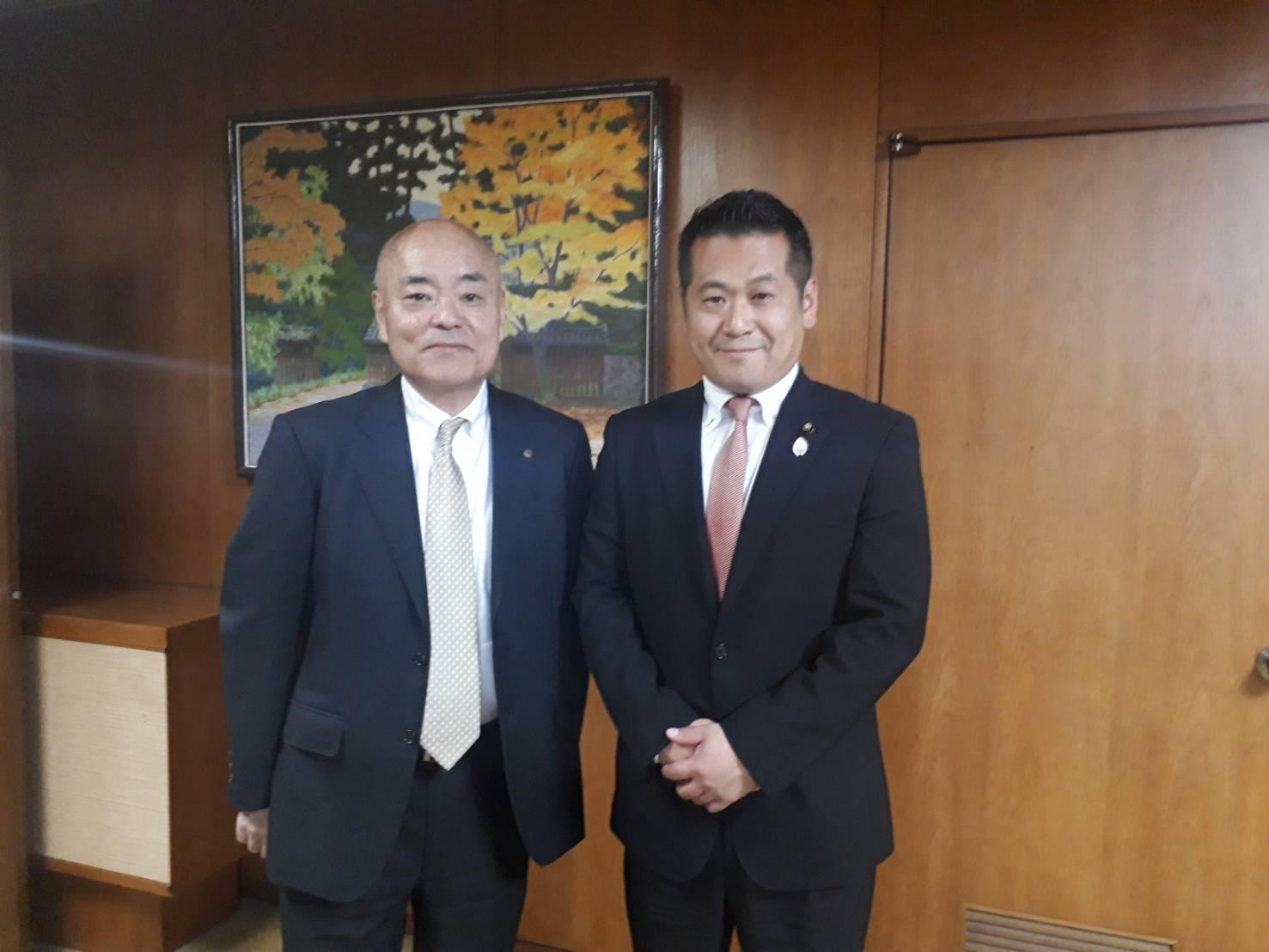私が議員になる前からお世話になっている田中敏彦氏が、6月に河合町副町長に就任し、表敬訪問@河合町役場