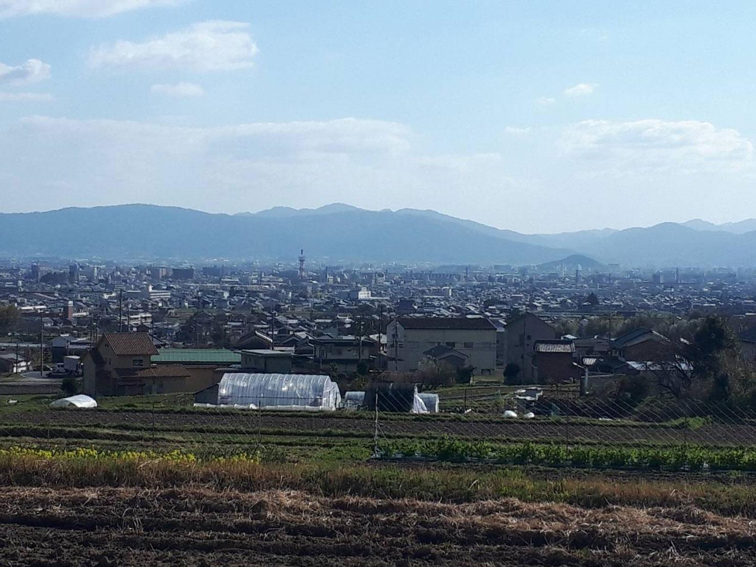 葛城山麓より奈良盆地を望む・映画「かぞくわり」打ち合わせ