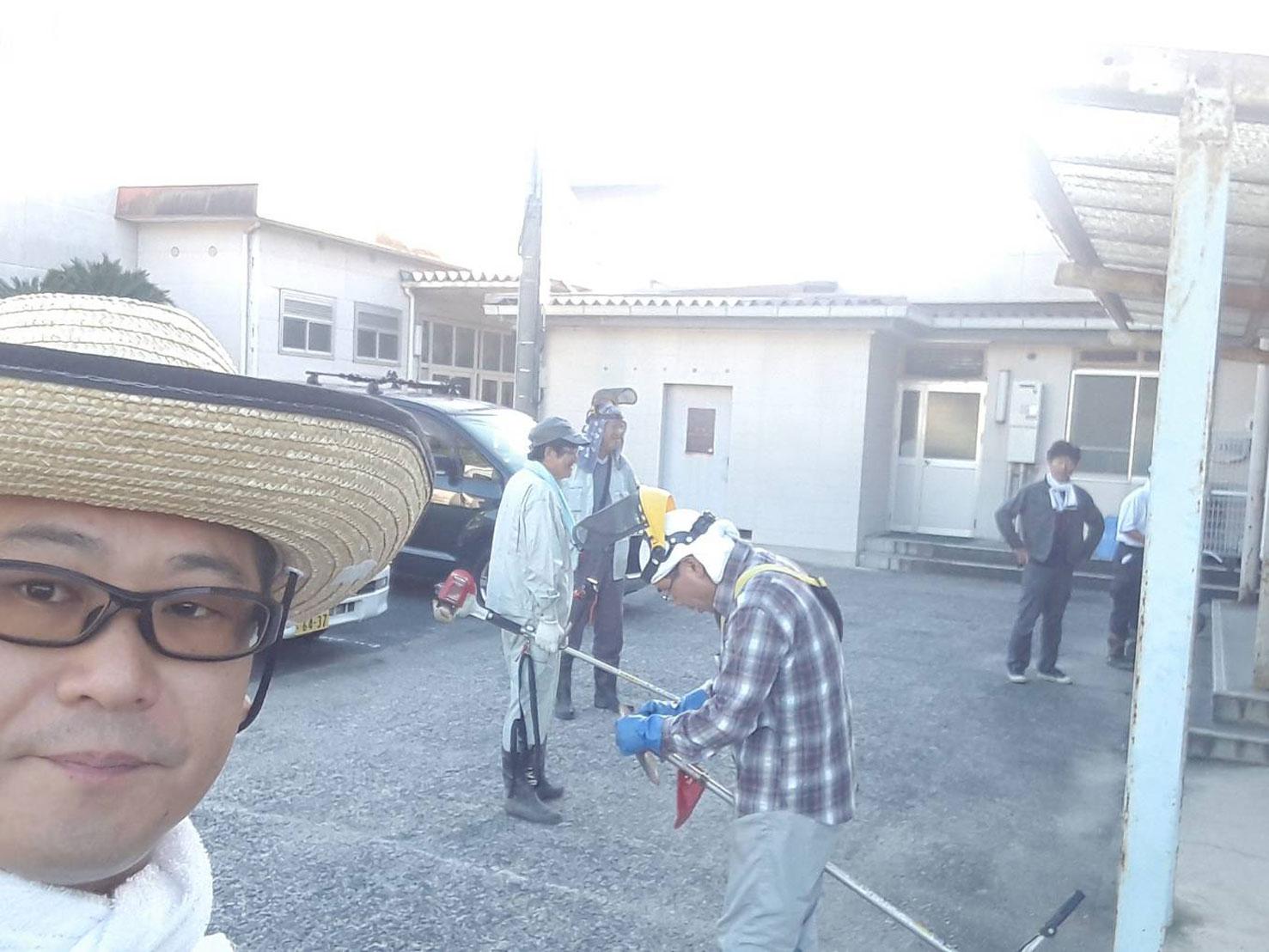 美化清掃@香芝市立関屋小学校