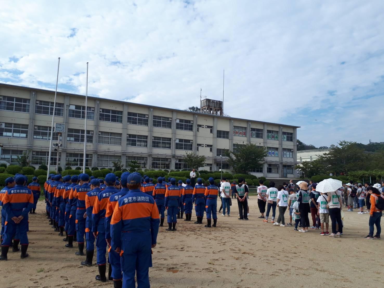 避難訓練@香芝市立香芝西中学校